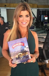 My friend and former Real Housewife of Miami Ana Quincoces shows off my book in between takes at NBC.